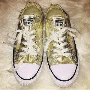 Converse All Star Metallic Gold Size 6 1/2